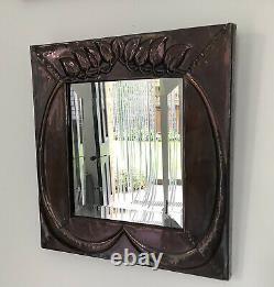 Glasgow School Arts And Crafts Mirror In Copper