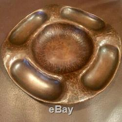Gustav Stickley Signed Hammered Copper Tray Arts And Crafts Roycroft Outstanding