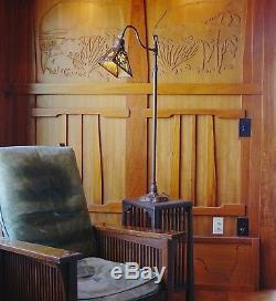 Handel Adjustable Palm floor lamp, mission, arts and crafts