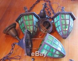 Handel Arts and crafts lantern Hanger, mission, lamp 1 of 3 available