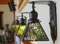 Handel Pine needle sconce 1 of 8 available lamp, mission arts and crafts
