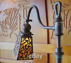 Handel bamboo leaf floor/table lamp, mission, arts and crafts