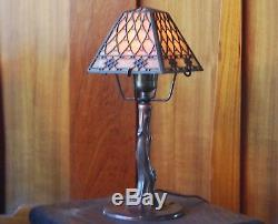 Handel closed top fish scale desk lamp, mission, arts and crafts