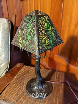 Handel closed top pine needle desk lamp1 of 2 available, mission arts and crafts