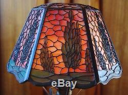 Handel open top arborvitae lamp. Mission, arts and craft, lamp