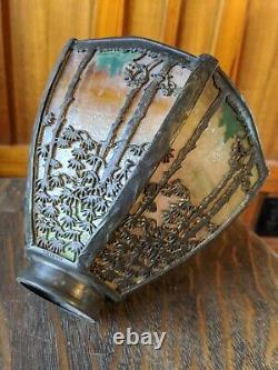 Handel pine landscape desk lamp 1of 2 available, mission arts and crafts