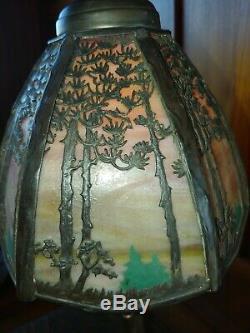 Handel pine tree desk lamp, mission, arts and crafts, lamp