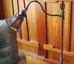 Handel small brick and loop floor lamp, mission arts and crafts