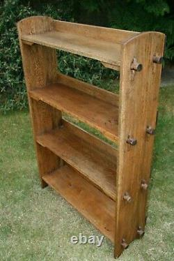 Handsome and Practical Oak Arts & Crafts Peg Sided Bookcase c1900