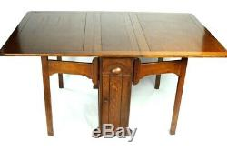 Harris Lebus Arts and Crafts Oak Sutherland Drop Leaf Table 5333