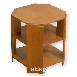 Heal and Co (Ambrose Heal) Arts & Crafts Large Octagonal Oak Book Table
