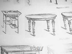 Heals and Son. Arts and crafts. E W Godwin Japanese Pagoda display table