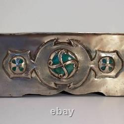 Jesson and Birkett Ruskin Pottery Arts and Crafts Silvered Metal Jardiniere