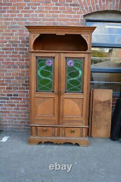 Jugendstil arts and crafts art noveau Bibliothek Schrank Vitrine TOP Qualität