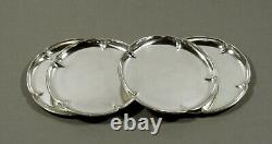 Kalo Sterling Bread Plates (4) HAND WROUGHT