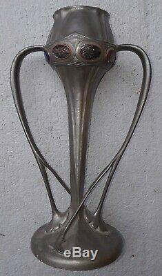LIBERTY TUDRIC Pewter Arts and Crafts Vase
