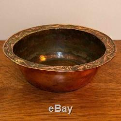 Large Arts and Crafts Newlyn School copper bowl by John Pearson