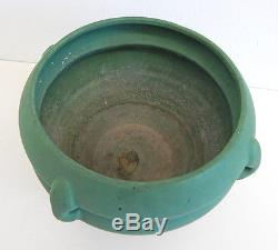 Large Arts and Crafts Vintage Matte Green Chloron Roseville Jardiniere