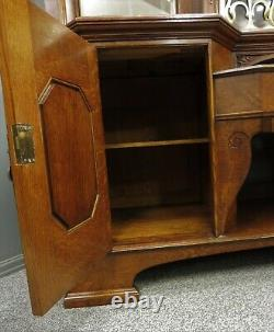 Large Oak Antique Arts And Crafts Pollard Oak Sideboard