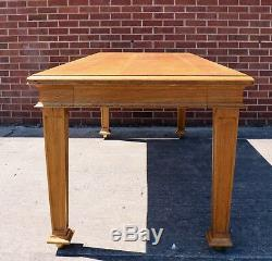 Large Oak Refectory Dining Table, Arts and Crafts (100638)