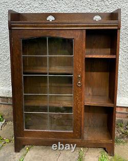 Liberty & Co Arts and Crafts Oak Single Door Bookcase Leonard Wyburd Mission