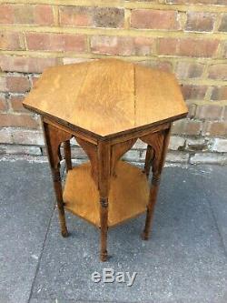 Liberty & Co Arts and Crafts moorish style oak occasional table
