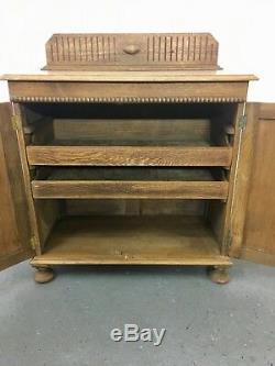 Light Oak Arts and crafts 2 door linen cupboard sideboard #2250L