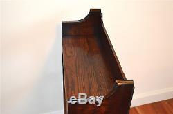 Lovely original Arts and Crafts oak book shelves bookcase rack