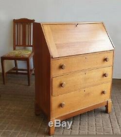 Maple & Co Arts and Crafts / Art Deco Cotswold Style Oak Bureau