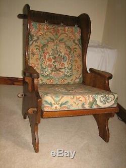 Nigel Rupert Griffiths Solid quarter sawn oak Arts and Craft Fireside chair
