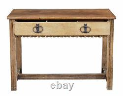 Oak Arts And Crafts Low Writing Table