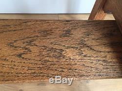 Oak Arts And Crafts Table. Original Decorative Hallway Consol