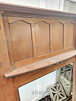 Oak Fireplace Surround 1908 Edwardian/Arts & Crafts from significant renovation