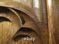 Oak Wall Panelling C1900 Arts and Crafts Carved Oak Panel L 168cm x H 155cm