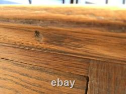 Old oak chest of drawers arts and crafts country