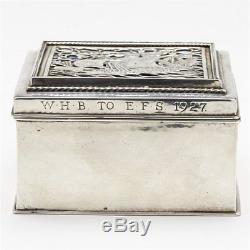 Omar Ramsden Arts & Crafts Silver And Enamel Box 1926