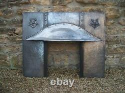 Original Antique Arts and Crafts copper Insert Fireplace Voysey Influence