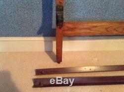 Original Arts and Crafts Oak Bed frame c. 1900 Heals/Libertys