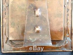 Original Newlyn Repousse Copper Arts and Crafts Photograph Frame c 1890's