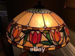 Original Wilkinson Leaded Glass Lamp Handel, Duffner, B&H, Arts And Crafts Era
