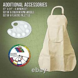 Paint and Sip Art Party Painting Kit Easels Paint Canvas Panels Brushes Aprons