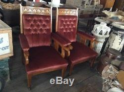 Pair Of Arts And Craft Fire Side Chairs