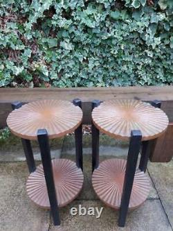 Pair of Arts and Crafts Tables Round Copper Tables Lamp Tables Side Tables