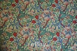 Pair of Sanderson William Morris Golden Lily Minor Curtains 78W x 84L