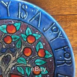 Poole Pottery 42cm Tree of Life Charger No. 238 of Ltd Ed of 500. Arts and Crafts