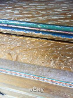 Quality Antique 1920s Arts And Crafts Solid Limed Oak Chest Of Drawers