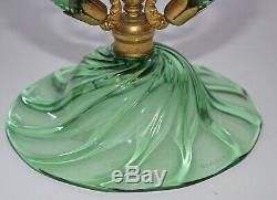 Rare Arts And Crafts James Powell & Sons Whitefriars Sea Green Glass Epergne