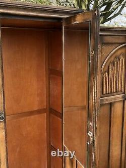 Rare Arts And Crafts Old Charm Carved Oak 3 Piece Bedroom Suite We Deliver