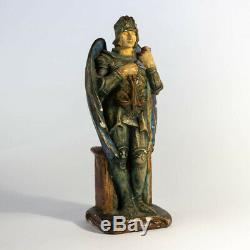 Rare Arts and Crafts Compton Pottery Figure of St Michael by Mary Seeton Watts