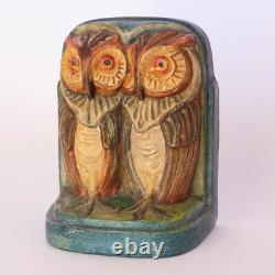 Rare Arts and Crafts Compton Pottery Owl Bookend by Mary Seton Watts